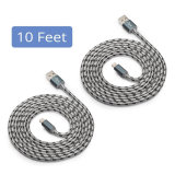 Wholesales Certified 10 Feet 3 Metros Nylon Braided Lightning to USB Cable