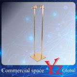 El estante de exhibición (YZ161808) de acero inoxidable soporte de exhibición estante de exhibición de la exposición de la suspensión del estante del estante del estante Promoción
