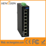 8 puertos de red Industrial Ethernet switch con División Vlan