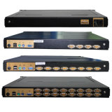 1つのPS/2+USBポートVGA KVMスイッチに付きOEMの製造業者3つ