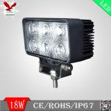 indicatore luminoso del lavoro del camion SUV LED del punto 18W o dell'inondazione (HCW-L1804)