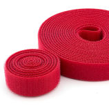 Flausch-Kabelbinder färbt kundenspezifische Größen-rote schwarze Farbe