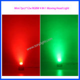 Lámpara LED 7PCS * 12W RGBW luz principal móvil