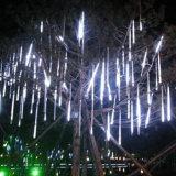 8*30/50cm 144/240 de luz clara solar da corda do banquete de casamento da lâmpada da decoração da árvore do jardim da potência solar das câmaras de ar da chuva do chuveiro de meteoro do diodo emissor de luz