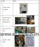 대만 델타 주파수 변환장치, 일본 Showa 유압 하중 초과 프로텍터를 가진 H 프레임 펀칭기 500ton