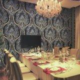 Documento di parete di lusso di disegno speciale del fiore per l'hotel/ristorante