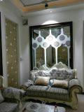 Vidrio de la decoración del vidrio atado con alambre para la pared del cuarto de baño de Ministerio del Interior