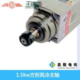 Asse di rotazione quadrato ad alta velocità del router di CNC di raffreddamento ad aria 1.5kw per legno