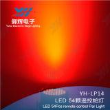 Fernsteuerungs54pcs 3W LED NENNWERT RGBW mischendes Stadiums-Beleuchtung LED NENNWERT-DJ-Partei-Erscheinen-Licht
