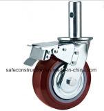 Haltbares Baugerüst-Fußrollen-Rad für Aufbau