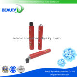 tubo de aluminio vacío del color rojo de la impresión 4c para la crema del color del pelo