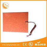 Placa quente flexível de borracha da miniaturização 12V 400*400mm Slicone