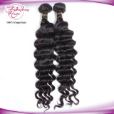 Do cabelo indiano 100% de Remy do Virgin trama crua Curly frouxa do cabelo humano