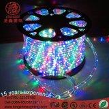 Interior y exterior de alta calidad LED redonda dos cuerda de alambre de luz para la iluminación de la decoración