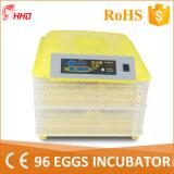 Incubateur automatique approuvé d'oeufs de la CE de Hhd le mini pour le poulet Eggs (YZ-96)