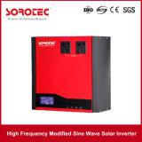 Onda de seno modificada de alta frecuencia del inversor solar 1-2kVA de la red