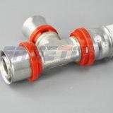 Tipo guarnición de cobre amarillo del Th de la prensa para el tubo del Pex-Al-Pex
