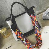 Мешок Tote 2017 женщин сумок PU цветастой планки способа кожаный с цветом Sy8000 контраста