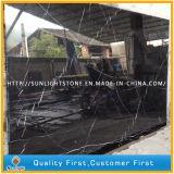 Branco preto de China/lajes de mármore de Nero Marquina para telhas de assoalho