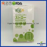 2017 paja disponible plástica flexible de la paja de beber (XM-FL074)