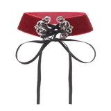 Juwelen van de Halsband van de Nauwsluitende halsketting van de Kraag van de Bloem van het Fluweel van de manier de Uitstekende Holle