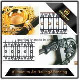2017 Última Fence Design Cerca de jardim de alumínio fundido