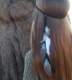 소녀를 위한 다채로운 기털 머리 부속품