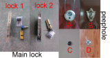Solas puertas exteriores usadas del hierro del acero del precio bajo