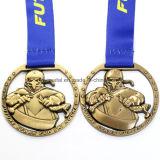 Medaglia su ordinazione del premio di sport di effetto del taglio del bronzo dell'oggetto d'antiquariato del metallo di Jiu-Jitsu