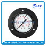 黒い鋼鉄圧力正確に測前部フランジ圧力正確に測油圧圧力計