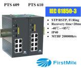 Interruptor industrial controlado gigabit do Ethernet da fibra