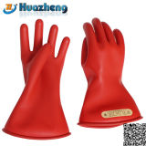 Перчатки безопасности типа 0 изготовления анти- электрической изолированные резиной