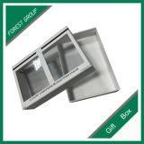 Boîte en carton ordinaire de modèle avec le guichet de PVC