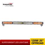 Barra ligera campo a través de la venta caliente ambarina 120W LED del color 25 ''