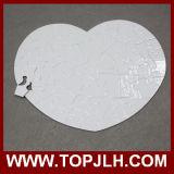 Puzzle personalizzato cuore di rettangolo/rotondo sublimazione del documento