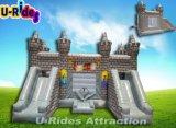 Castello di salto gonfiabile di colore grigio per il parco di divertimenti