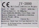 14 Zufuhrbehälter Multiheads Kombinations-Wäger für Gemüse Jy-14hdt