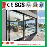 porta deslizante de vidro de alumínio da espessura de 2.0mm para Balconey