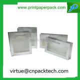 Sac transparent blanc découpé avec des matrices par luxe de papier d'emballage de traitement