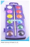 los 2.8cm torta del color de agua de 12 colores para los cabritos y los estudiantes