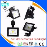 5W novo à luz do sensor de movimento da luz de inundação PIR do diodo emissor de luz 50W