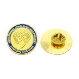 Distintivo duro d'imitazione personalizzato dell'oro dello smalto