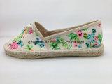 Chaussures en toile style été pour femmes Espadrilles plates
