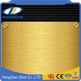 Color de oro 201 hoja de acero inoxidable del Ba 202 304 430
