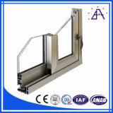 Châssis de fenêtre en aluminium flexible architectural de glissement