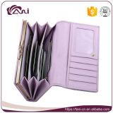 Carpeta violeta del monedero del embrague de la tarde de Fani, suposición del monedero del lápiz labial