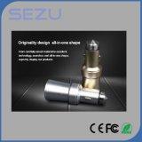 Freies Beispiel-USB-Auto-Aufladeeinheits-Metall 2 in 1 Handy-Auto-Aufladeeinheit