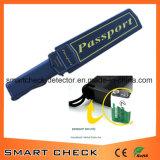 De Hand van het paspoort - de gehouden Detector van het Metaal