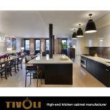 Gabinete de cozinha moderno preto de /White Desginer com trabalho agradável Tivo-0152h de Cabinetray