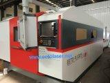 Máquina de corte a laser de fibra de IW 700W com mesa dupla